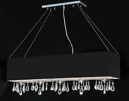 angelina black 5 light rectangular chrome crystal chandelier 8 hx39 5