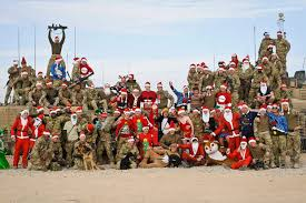 Santas of the frontline! Troops in Afghanistan prepare for ...