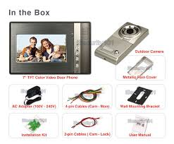 lcd video door phone doorbell home security please click here to see enlarged wiring diagram