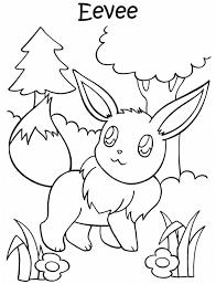 Kleurennu Pokemon Eevee Kleurplaten In Pokemon Kleurplaat Eevee