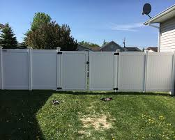 Vinyl fence double gate Double Door Privacy Vinyl With Double Gate Jpg Wallace Fences Vinyl Fences Wallace Fences
