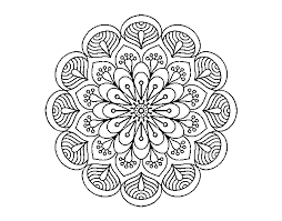Disegno Di Mandala Fiore E Fogli Da Colorare Acolorecom