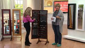 gold silver safekeeper mirrored jewelry cabinet by lori greiner with mary beth roe