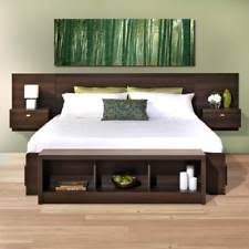 king size padded headboard. Contemporary Padded King Size Upholstered Floating Headboard Bed Frame Platform Modern Furniture In Padded R