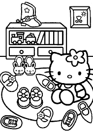 60 hello kitty printable coloring pages for kids. Hello Kitty Coloring Pages At Home Coloring4free Coloring4free Com