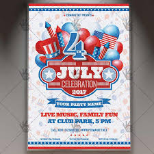 4th Of July Celebration Premium Flyer Psd Template