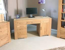 mobel oak hidden twin. Baumhaus CMR06B Atlas Solid Oak Twin Pedestal Computer Desk: Amazon.co.uk: Kitchen \u0026 Home Mobel Hidden