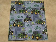 John Deere Quilt | eBay & John Deere Tractor Farm Little Baby Boy Quilt Blanket Blue Green Handmade Adamdwight.com