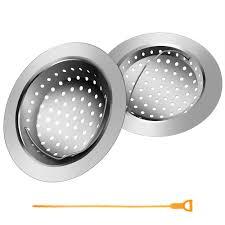 2pcs Kitchen Sink Strainer Basket 1pcs Drain Snake Colg Remover