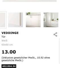 IKEA Veddinge Front Küche Schranktür Blende In Falkensee