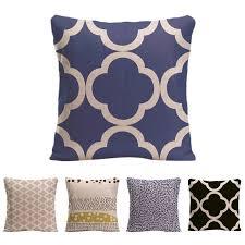 moroccan throw pillows. Moroccan Lattice Quatrefoil Pattern Cushion Cover Home Decorative Cotton Linen Throw Pillow Case For Sofa Car Pillows