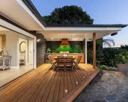 deck lighting. Example Of A Coastal Outdoor Kitchen Deck Design In Melbourne Lighting G