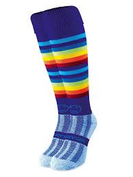 wackysox razzle dazzle rainbow sports socks