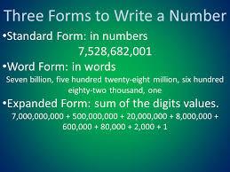 1 billion in standard form how to write in standard form homework help goassignmentwdny