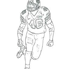 Football Player Coloring Sheets Pages Players And Cheerleader