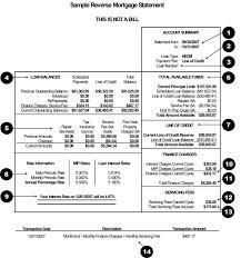 Understanding Your Reverse Mortgage Statement