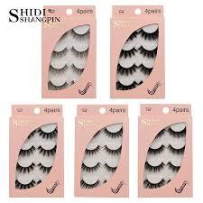 Online Shop <b>SHIDISHANGPIN 4 Pairs Mink</b> Eyelashes 3D Mink ...