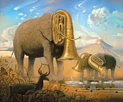 2018 salvador dali painting for abstract art oil canvas elephants meaning hand painted high quality from cherry02016 120 31 dhgate com