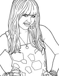 Disney Channel Hannah Montana Movie Coloring Page Netart