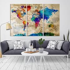 canvas world map encourage for kids nursery wall art animal pertaining to 17  on map wall art uk with canvas world map beautiful 40757 wall art print with regard to 13