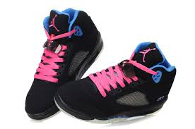 jordan shoes for girls black and pink. air jordan retro 5 girls black blue pink cheap for sale-1 shoes and 1