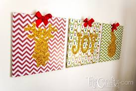 glittered reindeer joy and snowman wall art diy holiday on lovely decor about my