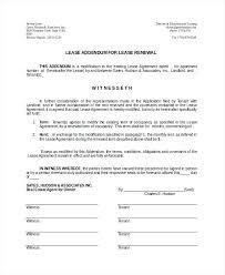 Rental Renewal Form Tenancy Agreement Extension Form Sample Tenancy ...