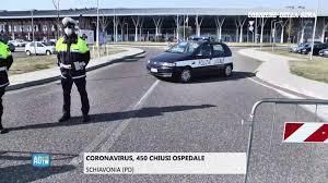 Corriere della Sera - Coronavirus in Veneto, le immagini dall'ospedale di  Schiavonia chiuso al pubblico. 450 le persone recluse. Sul posto il  Questore di Padova