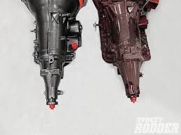 similiar difference in 4l60e and 4l60 keywords bolt tailshaft while the 4l60e on the right has a six bolt tailshaft
