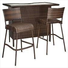 3 piece patio bar set. Simple Set Bar Setting Outdoor Furniture  A Guide On Rolston 3 Piece Wicker Patio  Set Threshold With R