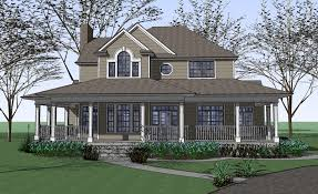 country farm house with wrap around porch