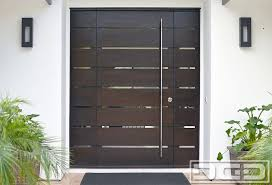 Orange County CA Modern Entry Doors in Solid Mahogany Wood Custom