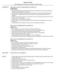 Real Estate Administrative Assistant Resume Samples Velvet