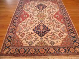 3 0 x 5 0 white and burdy kashan fl chinese rug