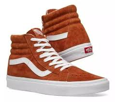 vans sk8 hi reissue suede leather brown skate shoes men s size 12