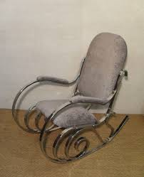 medium size of rocking chairs maison jansen chrome upholstered rocking chair antique styles france by
