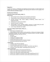 Coaching Resume Templates Coach Resume Template 6 Free Word Pdf