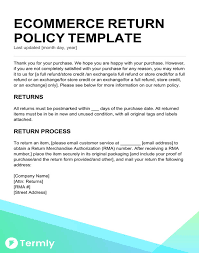 policy templates return policy templates examples free to download termly