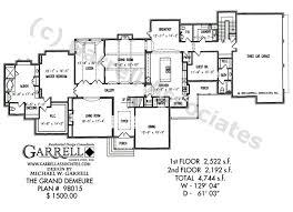 Grand Demeure House Plan   House Plans by Garrell Associates  Inc Grand Demeure   Estate Size House Plans  Tudor House Plans
