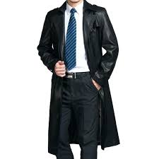 fur trench coat mens black trench coat with fur collar fur lined leather trench coat mens