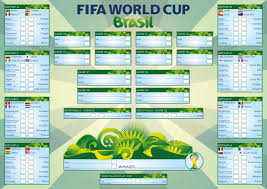 Brazil 2014 World Cup Wall Chart Un Official