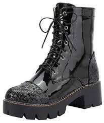 Amazon.com   Mofri <b>Women's Stylish Sequins</b> Block Medium Heel ...