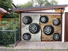 garage door murals3D Flying Tires 20 Garage Door Murals Wall Print Decal Wall Deco