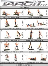 Abs Exercise Chart Workout Charts For The Targitfit Portable Gym