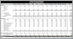Financial Statement Excel Spreadsheet Income Statement Template