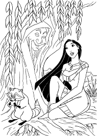 Pocahontas Coloring Pages For Kids Printable Free Coloriages
