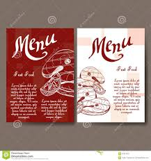 Restaurant Survey Cards Cafe Menu With Hand Drawn Design Fast Food Restaurant Menu Template