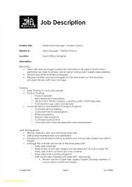 Retail Manager Job Description For Resume Free Download Retail Sales