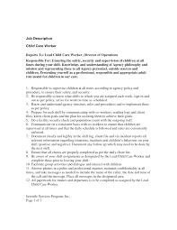 Child Care Assistant Job Description For Resume Resume For Your