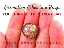 dichroic gl cremation ashes memorial ring gold copper remembrance jewelry